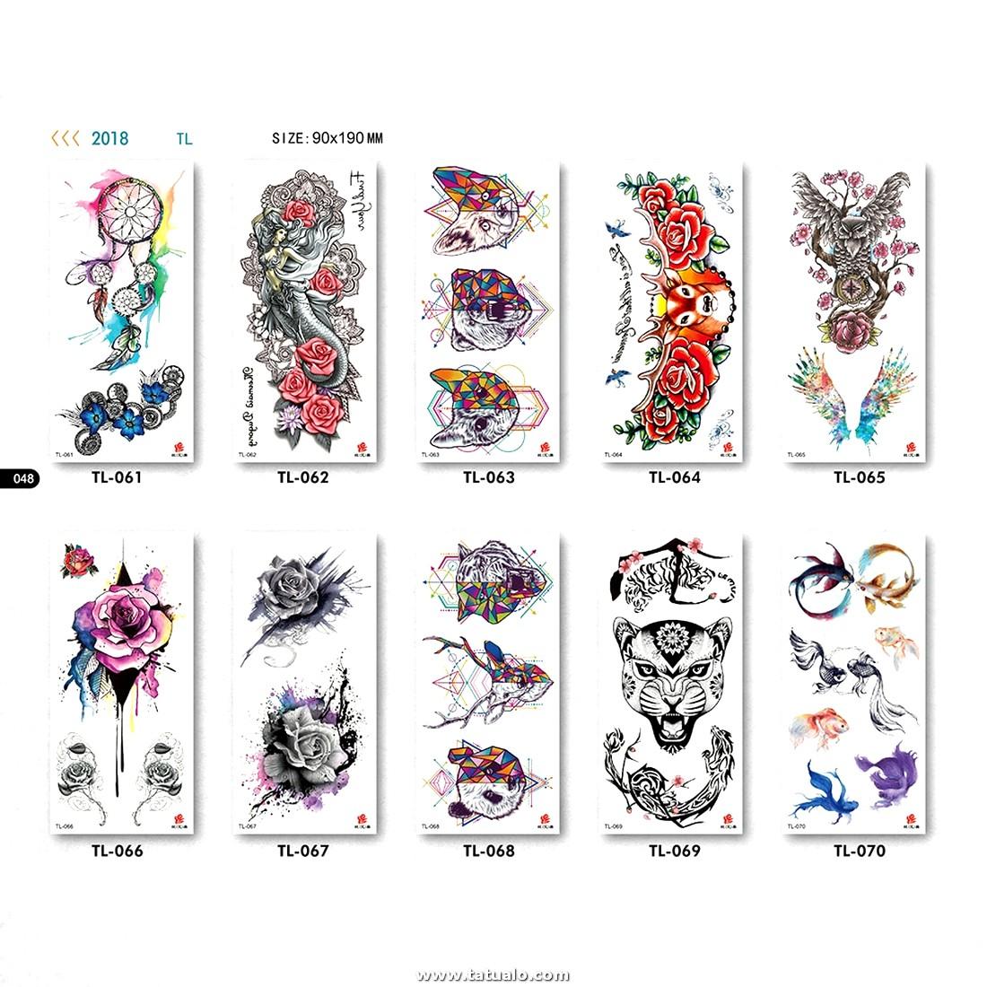 151951 Brazo Falso Tatuaje Mujeres Hombres Belleza Lobo Peces Flor Aguila Leopardo Patrones Cuello Pierna Mano Maquillaje Tatuajes Cara Tatuajes Pegatinas