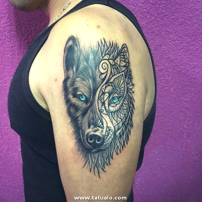 26 Cute Wolf Tattoo For Women In Design For Woman