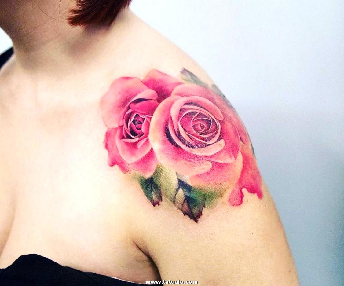 Convertible Tatuajes Para Mujeres Flores Hombro Con Respecto A Moderno