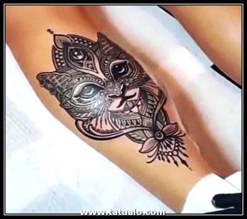 Imagenes De Tatuajes Para Mujer En La Pierna De Gato