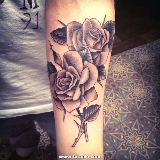 Imgenes De Tatuajes De Rosas En El Brazo 2