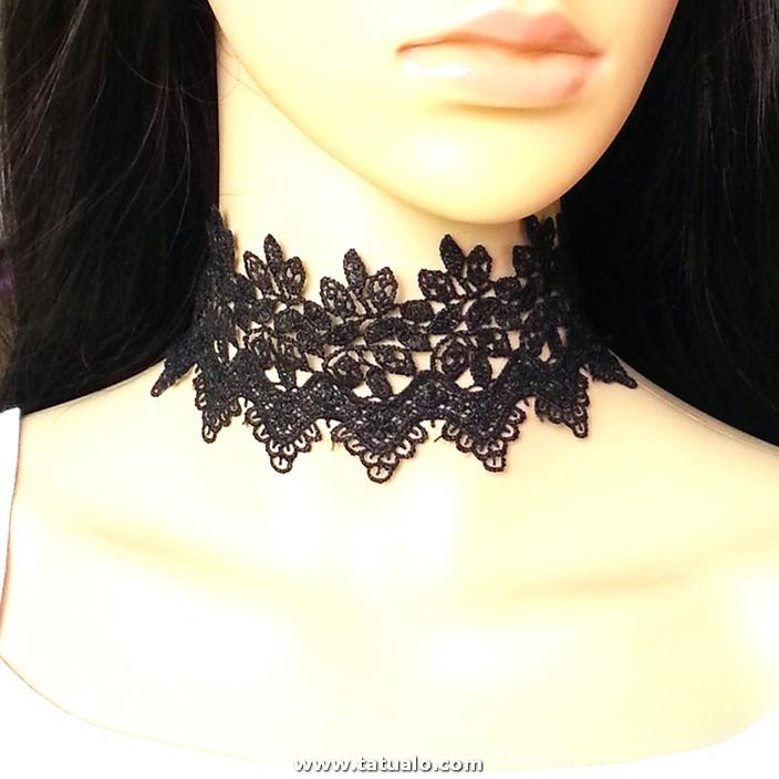 Mdiger Brand Moda Mujer Choker Cuello Encaje Cadena Tatuaje Femenino Cuello Corto Encaje Para La Boda.jpg 640x640