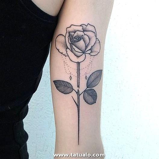 Rosas Tatuajes En Los Brazos