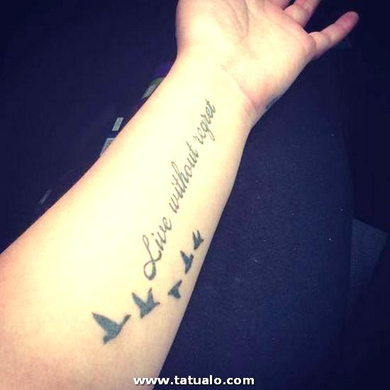 Tatuaje Frase Aves Fotos