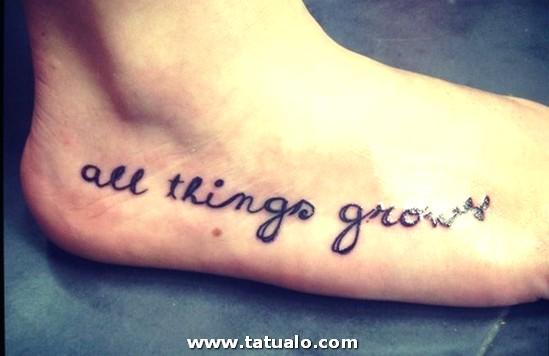Tatuaje Frase En El Pie Large