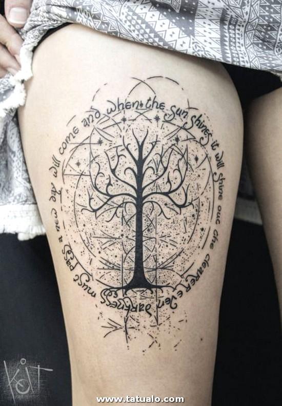 Tatuaje Naturaleza Muerta En La Pierna