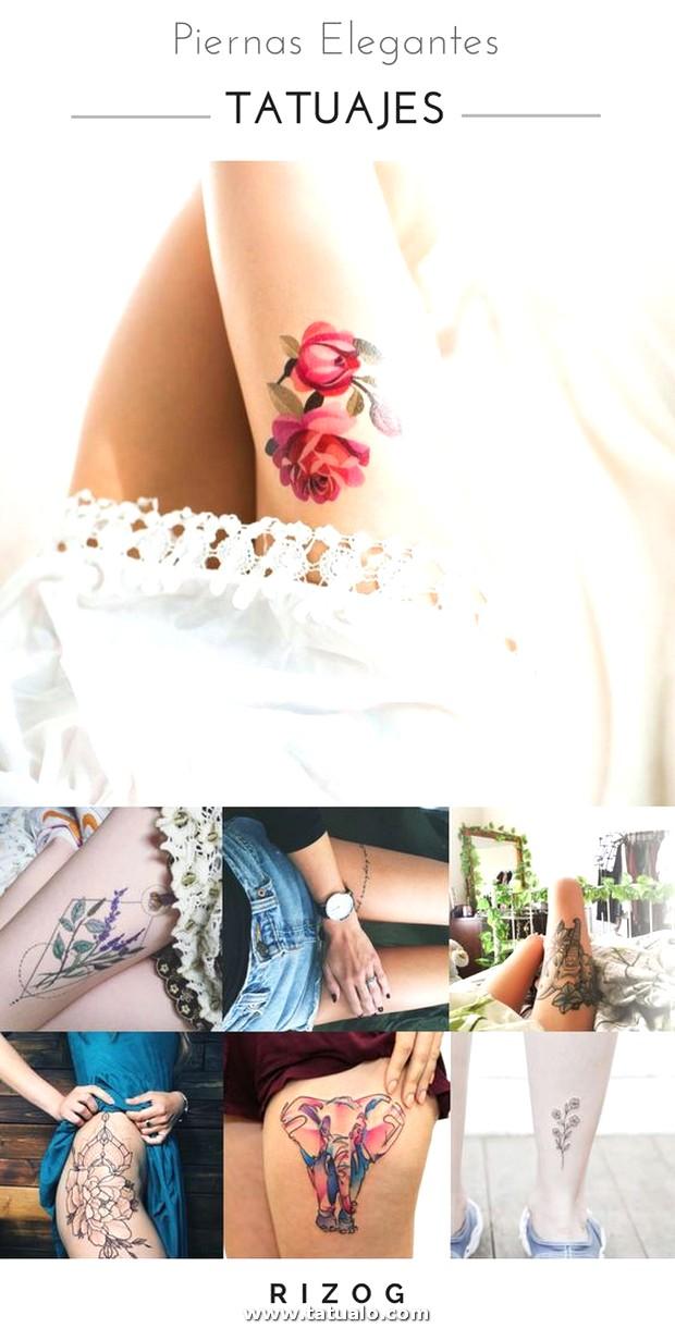 Tatuajes De Pierna Elegantes Para Mujeres