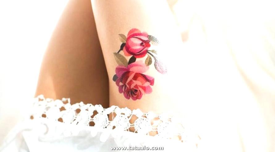 Tatuajes En El Pierna Elegantes Para Mujeres