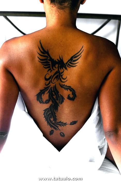 Tatuajes Mujeres Espalda Ave Fenix