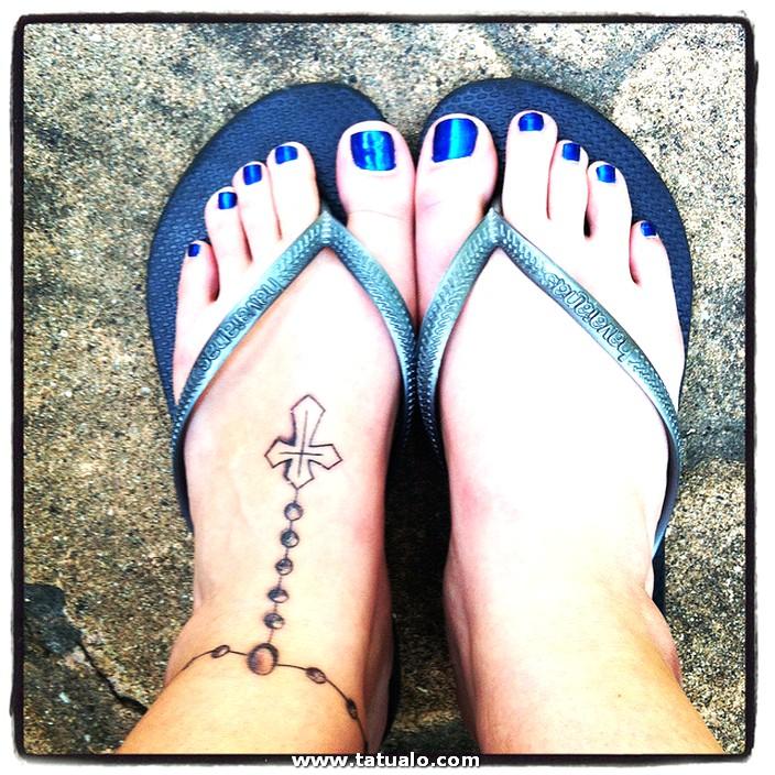 Tatuajes De Rosarios En Los Tobillos 08