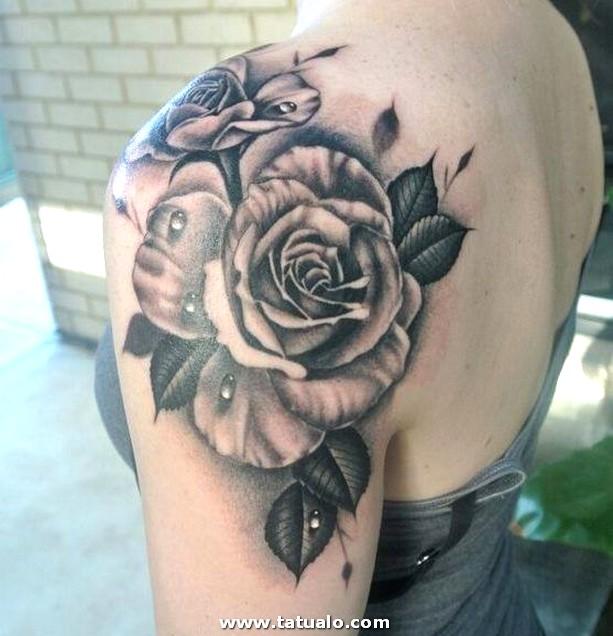 Tatuajes De Rosas En El Hombro Para Mujeres . . .. E1539125095921