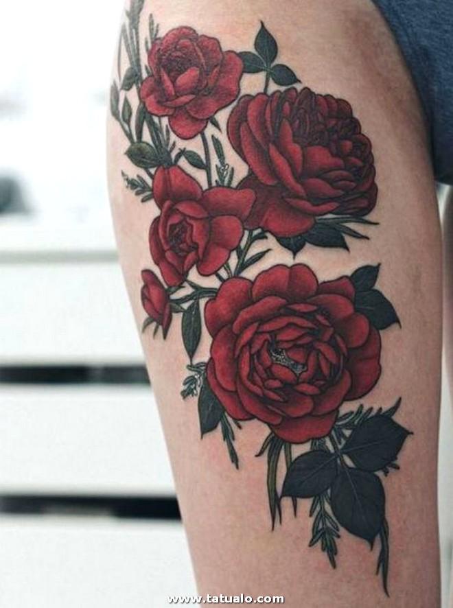 Tatuajes De Rosas En La Pierna 2