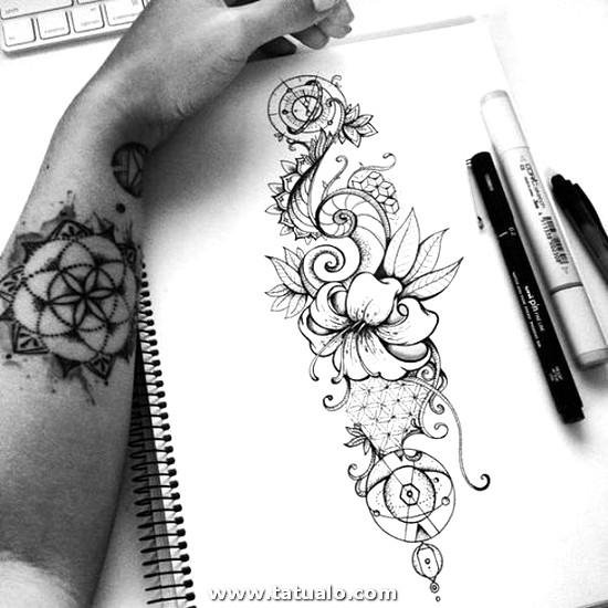 Tatuajes En Blanco Y Negro De La Naturaleza