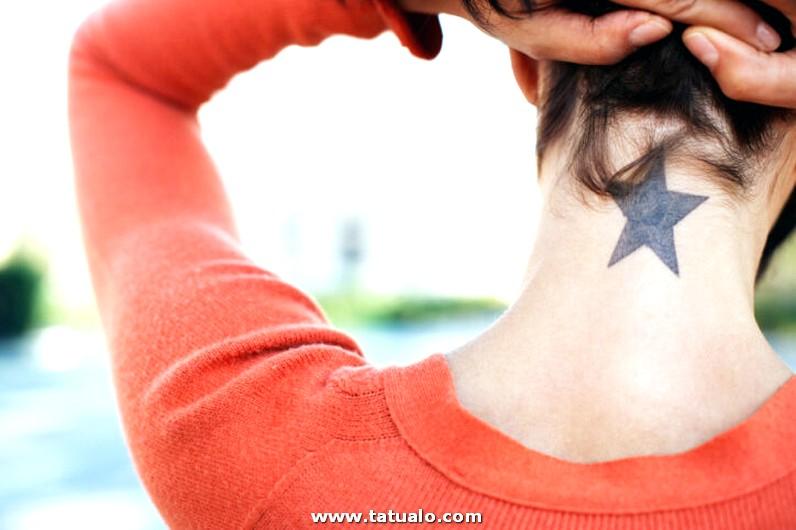 Tatuajes En El Cuello Para Mujeres 0
