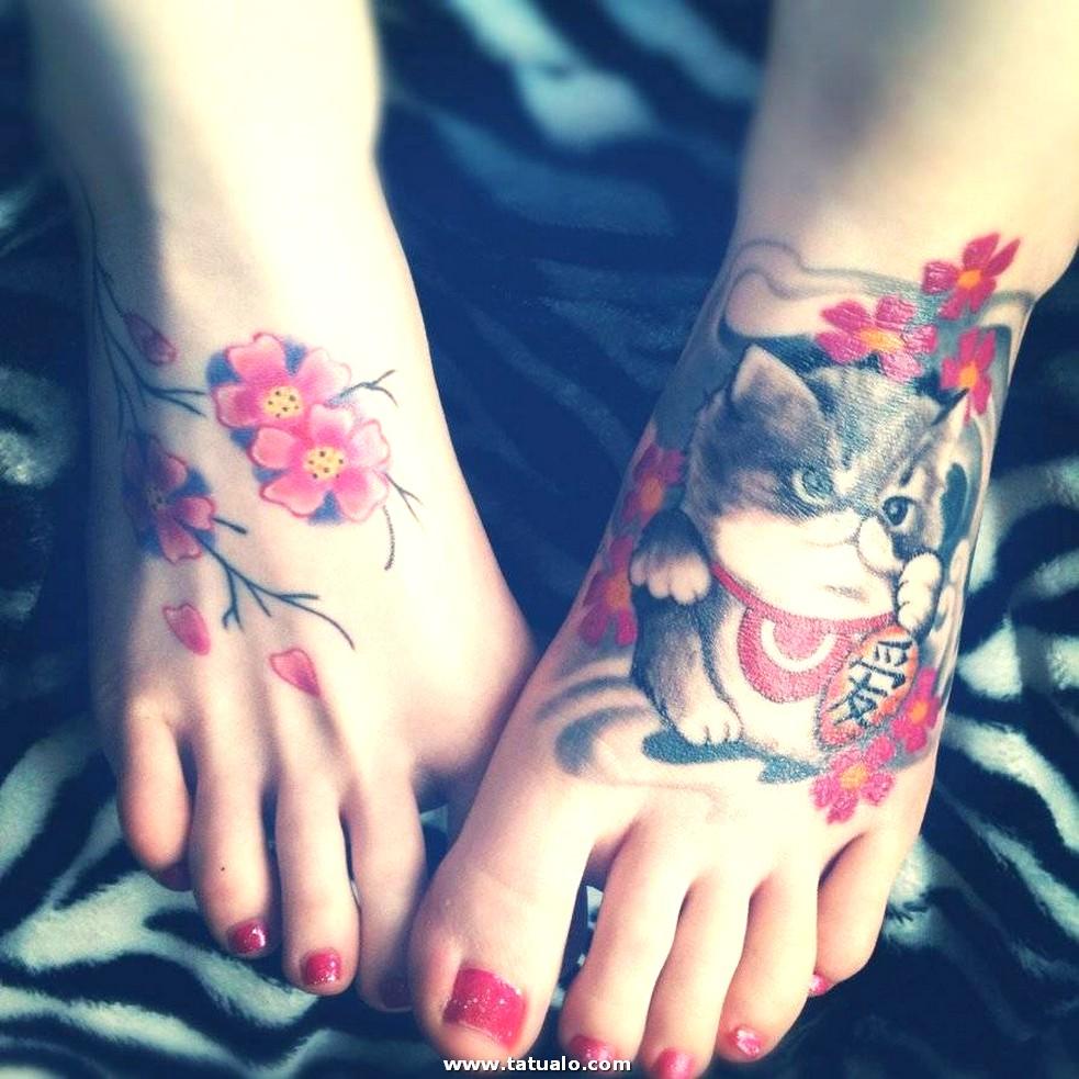 Tatuajes En El Pie Gato