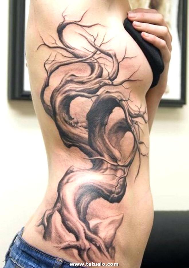Tatuajes En Las Costillas Arbol