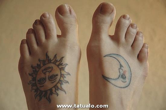 Tatuajes Luna Y Sol En Los Pies