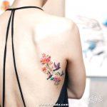 Tatuajes Para Mujer Delicada Espalda Rosa Flor 550x550