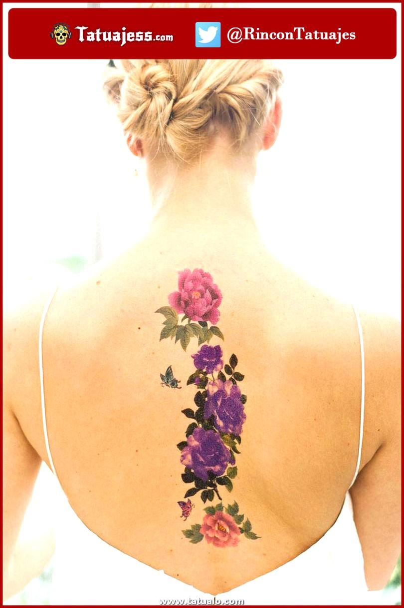 Tatuajes Para Mujeres Rosa En La Espalda