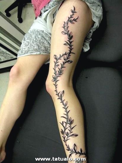 Tatuajes Para Mujeres En La Pierna 12 375x500