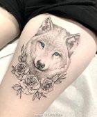 Tatuaje de un lobo