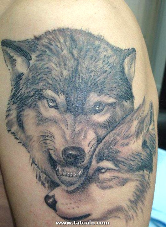 Wolf Guards His Female Tattoo 1