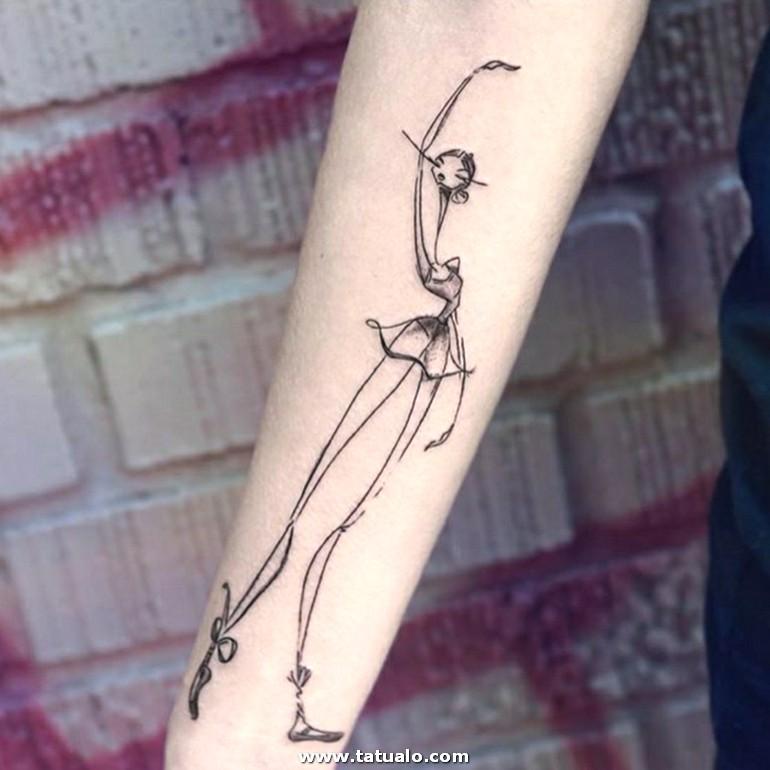 Ballerina Tatuada En El Antebrazo Tatuajes Antebrazo Mujer De Encanto Dibujos Originales Y Divertidos