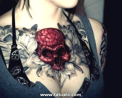 Calaveras Tatuadas Pecho