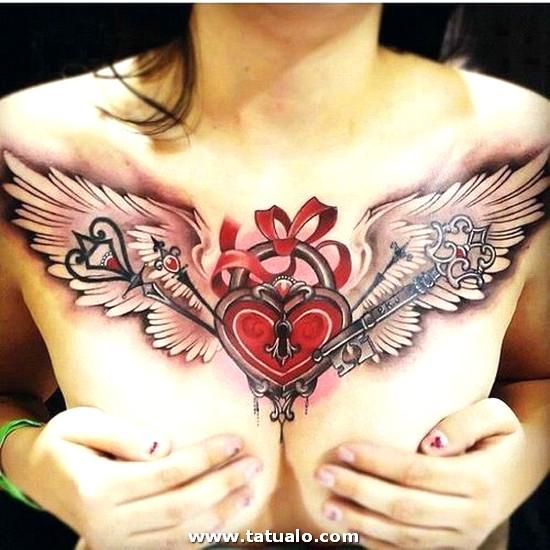 Corazon Alado Tatuado