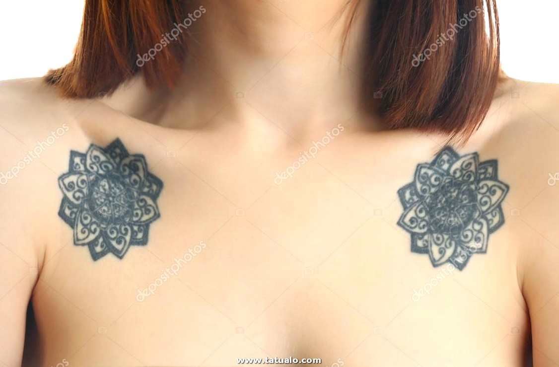 Depositphotos 96887762 Stock Photo Flower Tattoos Female Shoulders White