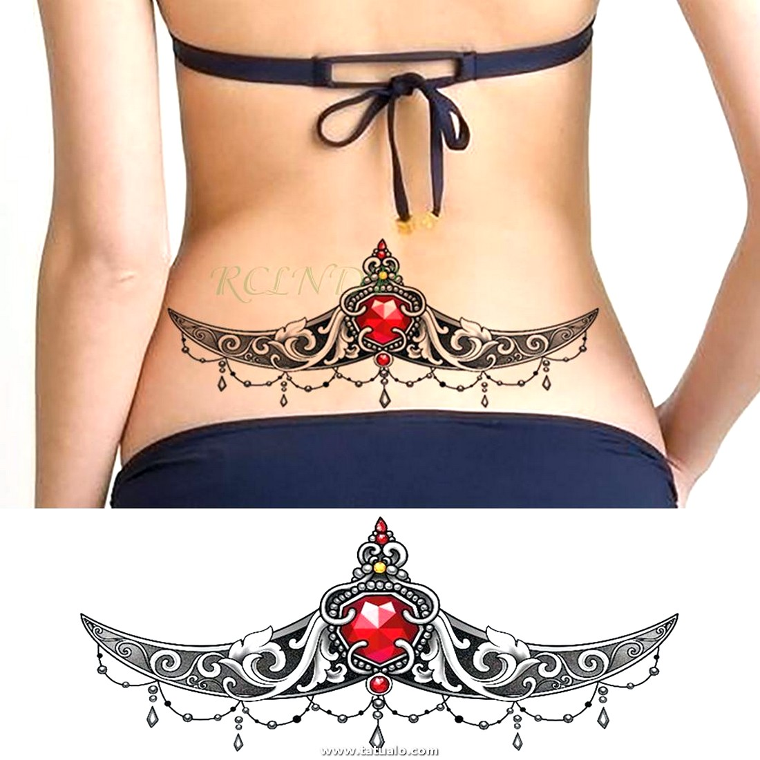 Etiqueta Engomada Del Tatuaje Temporal Impermeable