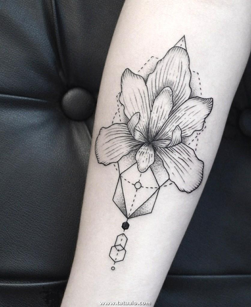 Flor Tatuaje Original Mujer Disenos