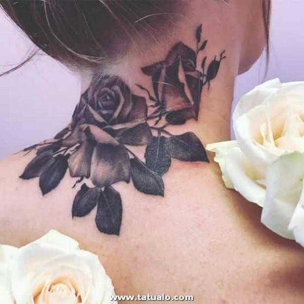 Flores Alrededor Del Cuello Tatuaje