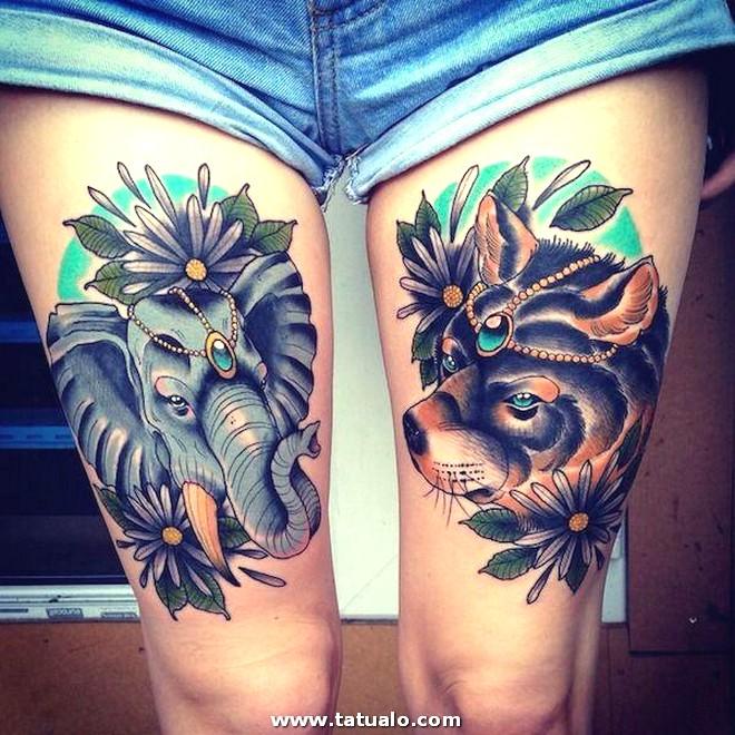 Foto De Tatuaje En La Pierna Mujer