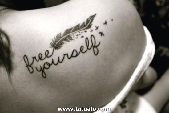 Frases Para Tatuajes Para Mujeres Free Yourself En Espalda