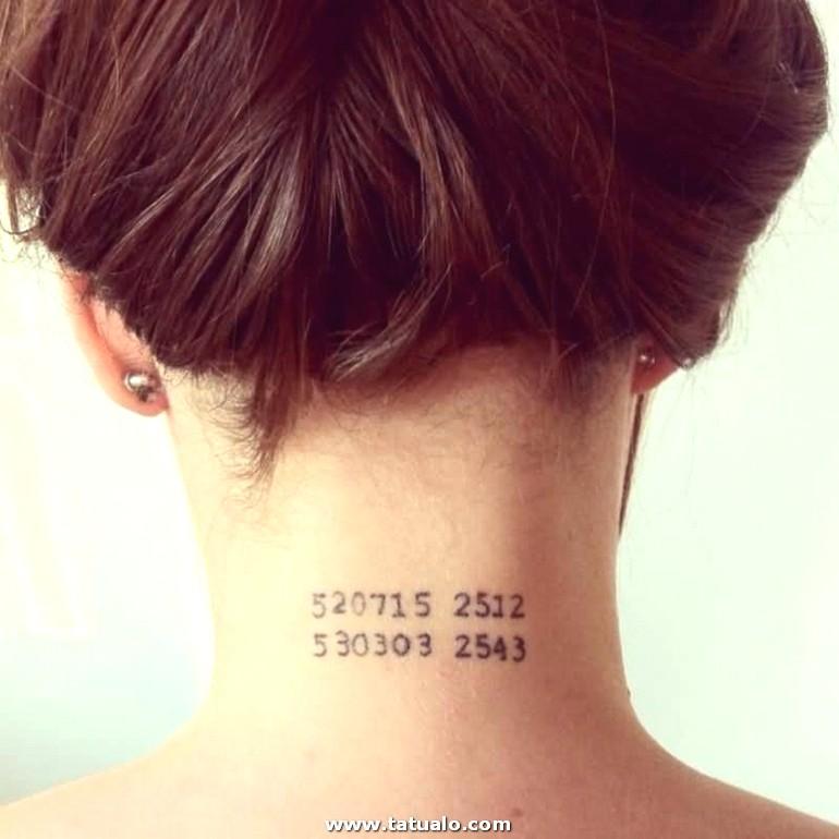 Ideas Originales Tatuajes En La Nuca Tattoo En El Cuello Series De Numeros Tatuajes Originales Mujer E1525081011987