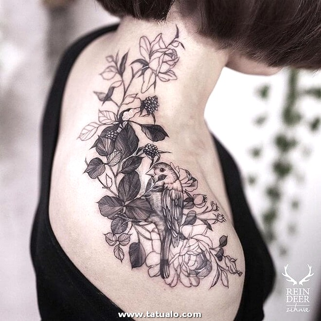 Imagen De Tattoo En El Hombro Para Damas