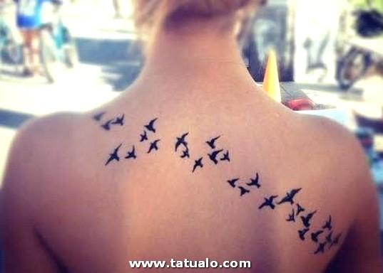 Imagenes De Tatuajes Para Mujer Espalda Pajaros