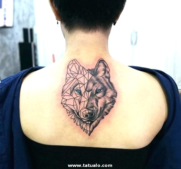 Lone Wolf Tattoo Designs For Men Women On Tribal Meanings Shop