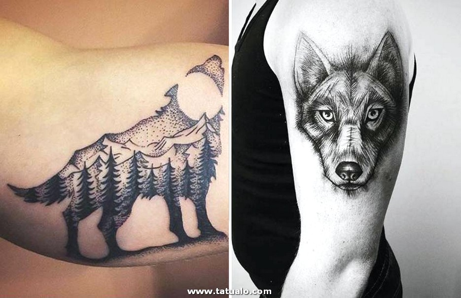 Lone Wolf Werewolf Tattoo Designs Men Women
