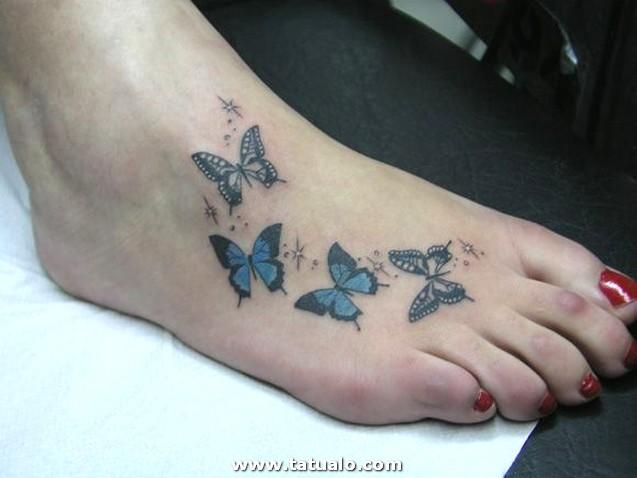 Mariposas Y Destellos Tatuajes Para Mujeres 19