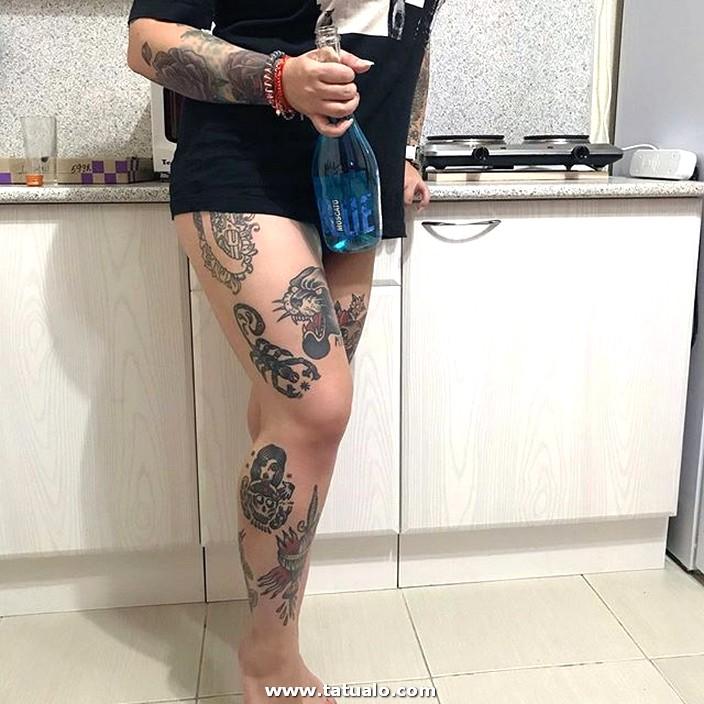 Piernas Completas Tattoos Para Mujer