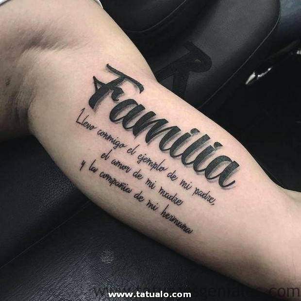 Tattoo Brazos Frases Nombres 1