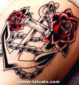 Tattoos En Hombro Ancla
