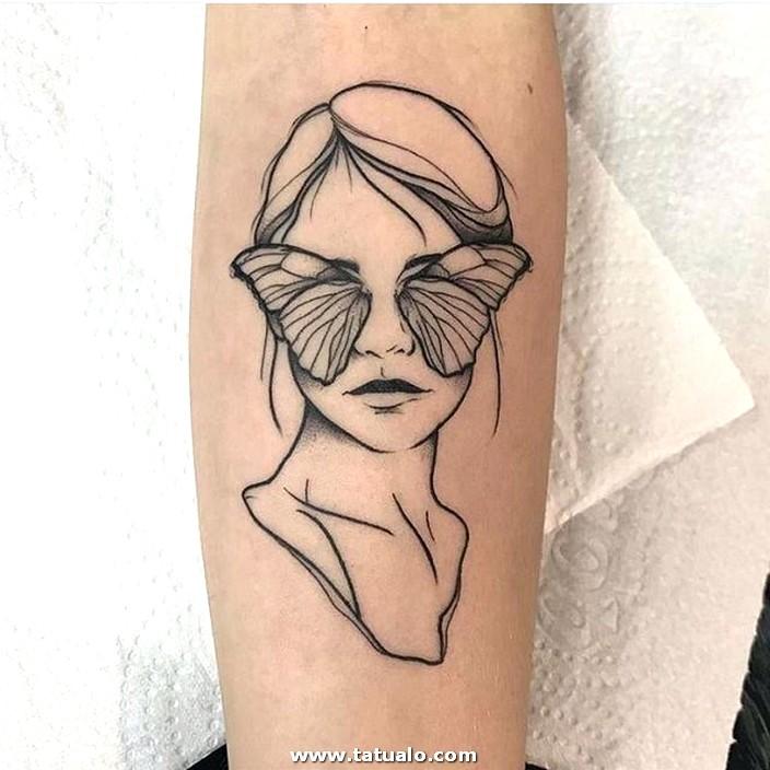 Tatuaje Creativo En El Brazo Para Mujeres