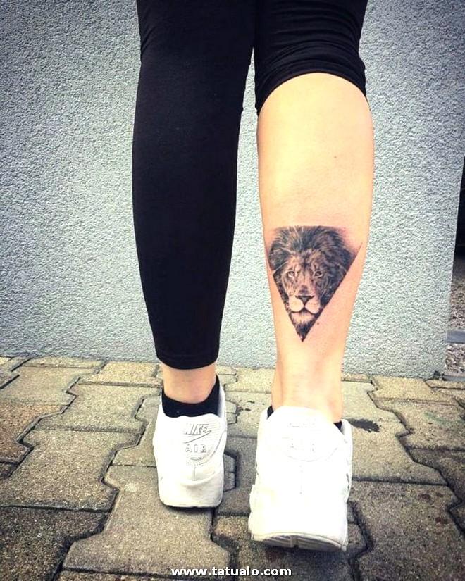 Tatuaje De Leon O Leona Para Mujer Triangulo 600x750