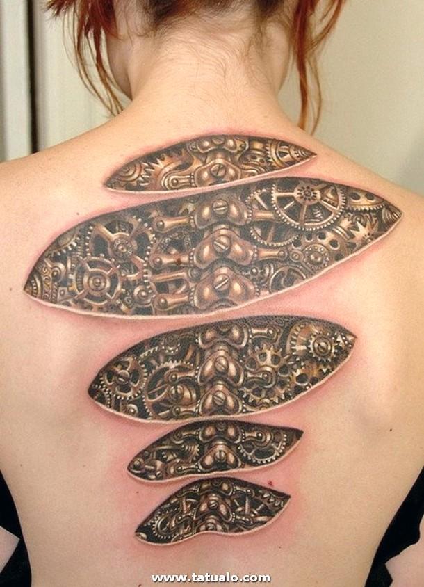 Tatuaje Espalda 3d