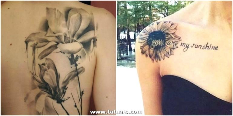 Tatuaje Espalda Dos Ideas Tatuaje Mujer Blanco Y Negro Hombro Girasol Frase Espalda Cannas Indicas E1515490632786