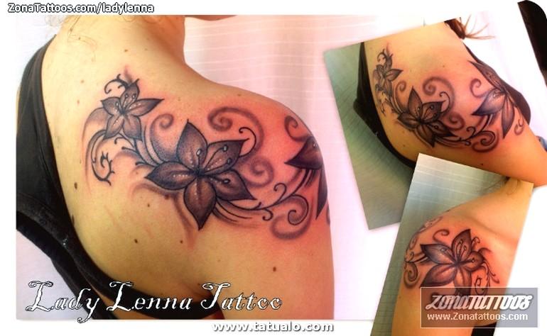 Tatuaje Flores Hombro 69203 A