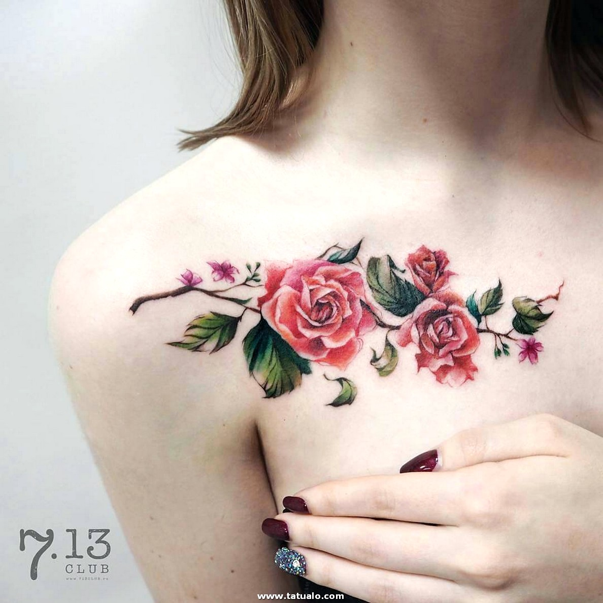 Tatuaje Flores Pecho